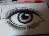 目を3日かけて描いてみた