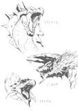 【落書き】 海竜 雷狼龍 火竜