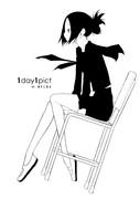 【1day1pict】92 椅子に座る【ニコ生企画】