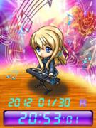 ◆けいおん! 琴吹 紬 待受Flash時計