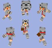 【Minecraft】オオカミパーカー