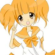 オレンジ色。