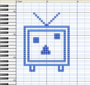 Dominoで『ニコニコテレビちゃん』描いてみた