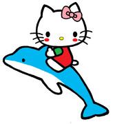 キティ ~イルカさんといっしょ♪ / いつも描いてる感じのおめめver.~