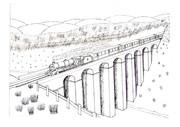 クロンク橋(線画)