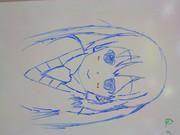ホワイトボードで見ながら描いてみた 中野梓