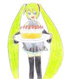 ケーキを焼いてくれたようです【初音ミク】