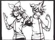 [切り絵]リン&レン
