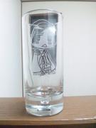 友達がグラスに凛子掘ってくれた!(*´ω`)