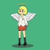 ミニスカ天使とデザートイーグル