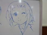 ホワイトボードで見ながら描いてみた 田井中 律