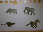 【消しハン】アフリカの動物