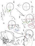 テリヤキの場合の横顔の書き方