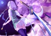 桜と月と半霊の剣士
