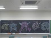黒板にスマイルプリキュア描いちゃった(^0^;)