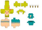 【Minecraft×ペパクラ】ゾンゾン_追加オプション【展開図】