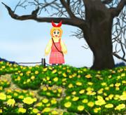 安中さんがいる風景「群馬県安中市松井田町上増田・福寿草群生地」