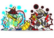永江竜:衣玖オウガ&豊聡竜:神子オウガ