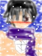 雪の中でシズちゃんを待ってる臨也さん(来神)