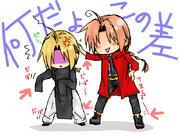 ハガレン×銀魂☆エドと神威☆服交換