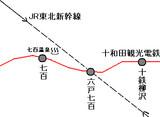 東北新幹線が十鉄と接続した場合の図