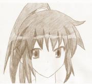 【シャーペンで書いてみた】涼宮ハルヒの髪の長いときを書いてみたが失敗ww
