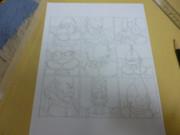 いつか描くフリーザ軍マンガの表紙 (下描き)
