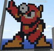 【Minecraft】メタルマン作ってみた【ROCKMAN2】