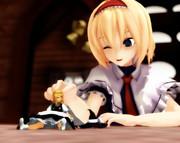 小さな魔理沙と大きなアリス
