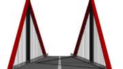 正面からみた吊り橋