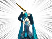 【剣道】上段の構え【MMD】