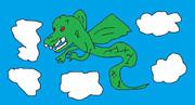今回は辰年にちなんで龍を描きました