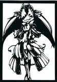 切り絵「永い後日談のネクロニカ 箱庭の物語」