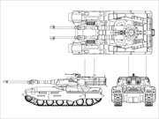 M61A5 61式5型戦車(線画)
