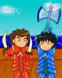 【エイプリルフール】ナイトまるちゃん・海賊騎士・大野君と杉山君
