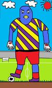 サッカーのマスコットを夢見るペンギン