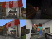 マインクラフト建築練習「精肉店」