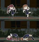 赤沢さんと小椋ちゃんでキルミーダンス
