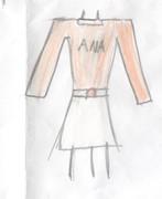 女性用・名前付き長袖シャツ