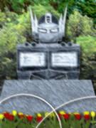 コンボイの石像