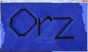 マインクラフトでorzをつくってみた