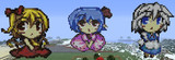 【Minecraft】東方人形劇のフラン、レミリア、咲夜の集合写真!!