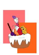 バチュル達とケーキ