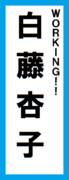 オールスター感謝祭の名前札(白藤杏子ver.)