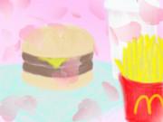 【落書き】ハンバーガーを描いてみた。【あくまで落書きです】