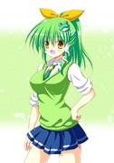 うわさの緑の子を描いてみました