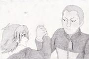 イナズマイレブンの「吹雪士郎と染岡竜吾」描いてみた