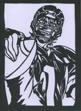「アイシールド21」 ヒル魔 「切り絵」