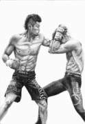ボクシングをデッサン