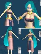 【MMDユーザーモデル】砂漠の国の王女様その3